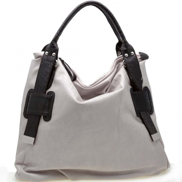 Two-Tone Tall Tote Carry-All Bag