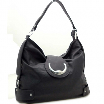 Dasein Belt Side Accented Front Flap with Magnet Hobo Handbag-Black