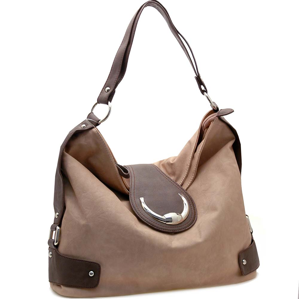 Dasein Belt Side Accented Front Flap with Magnet Hobo Handbag