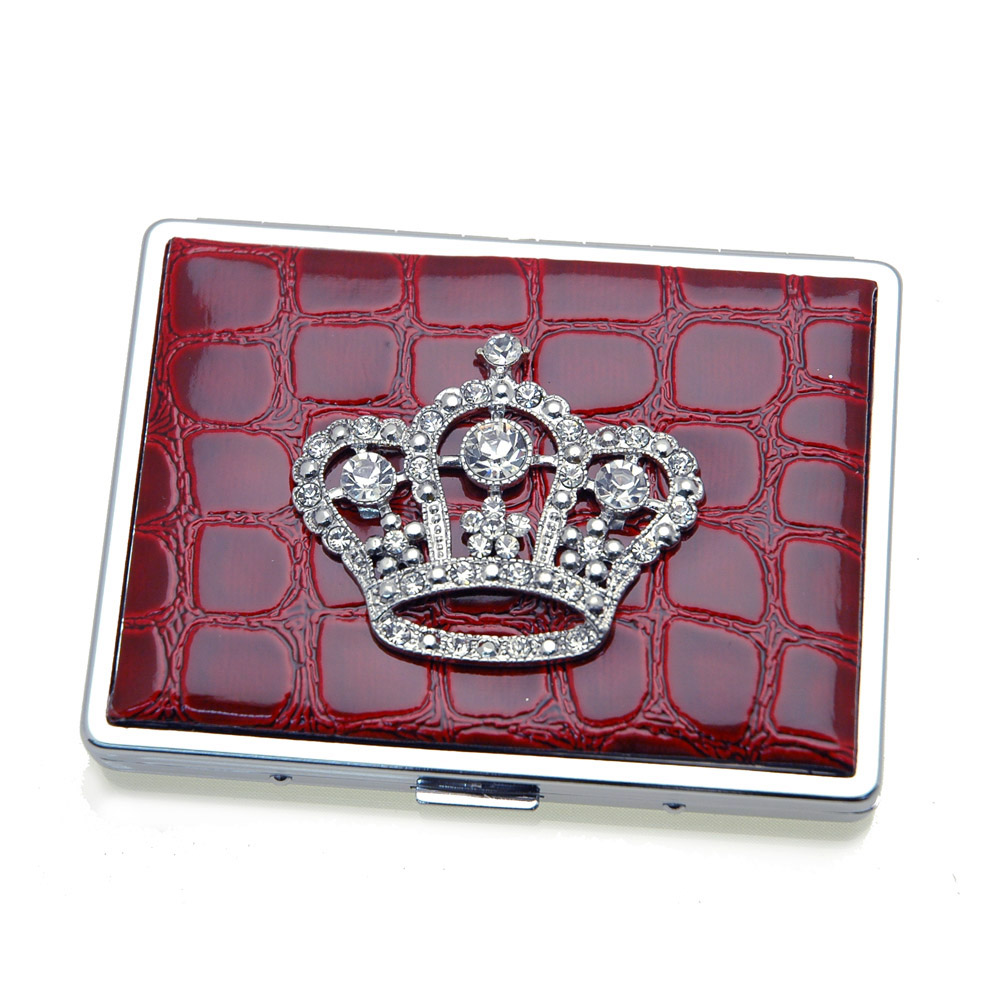 Croco embossed face, Crown sign card case