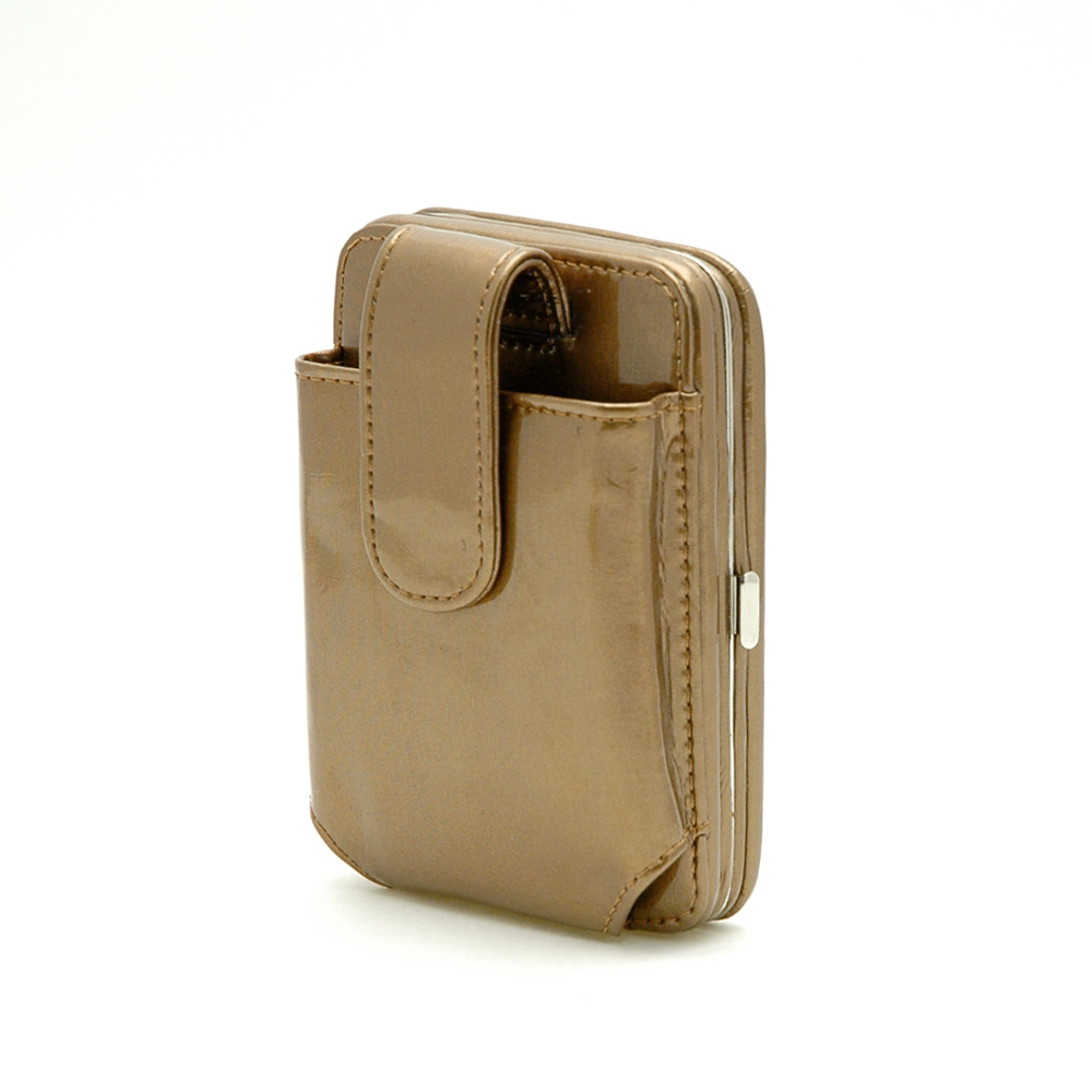 Cellphone IPhone Ipod case bag frame wallet bronze