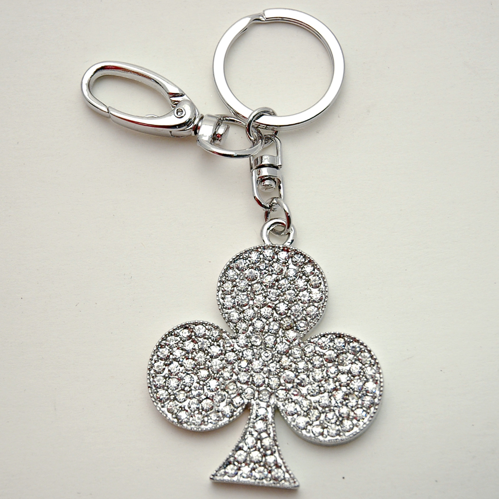 Rhinestone Club Key Chain
