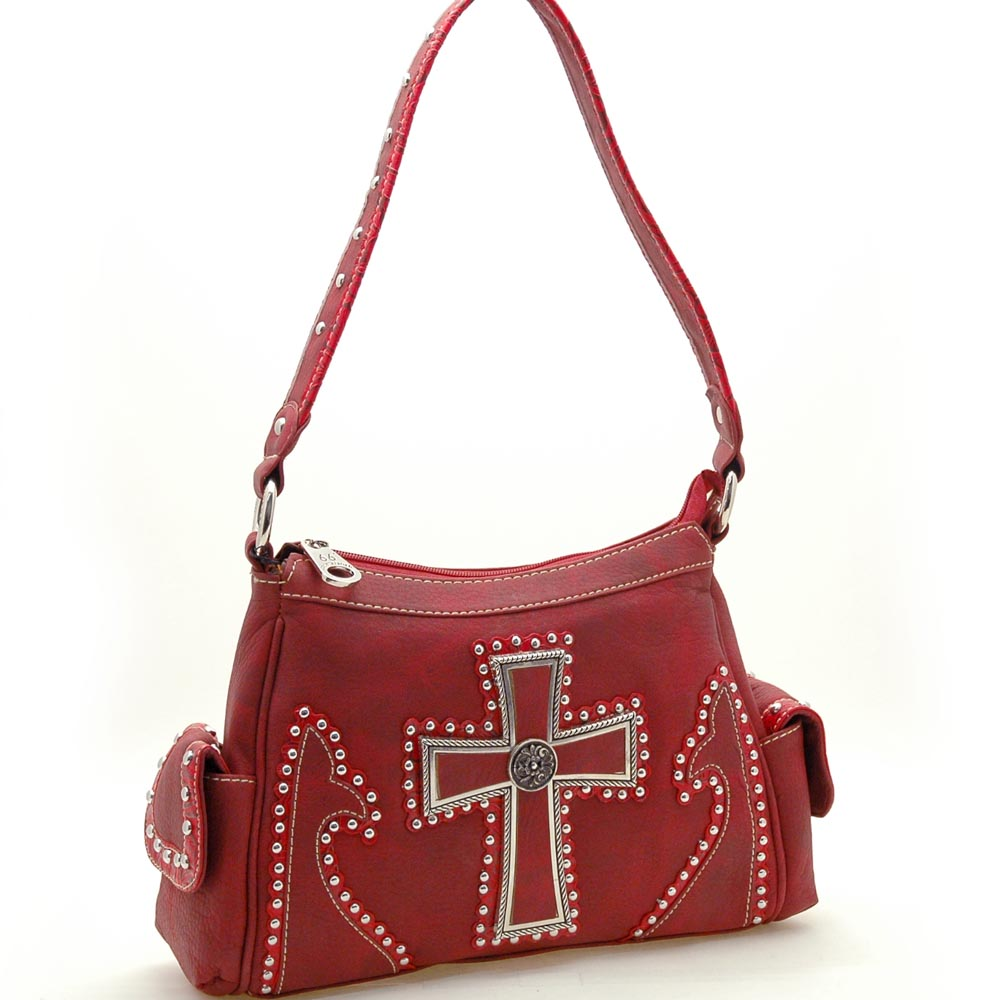 Country Road® Double Pocketed Cross of the Frontier Preacher Shoulder Bag