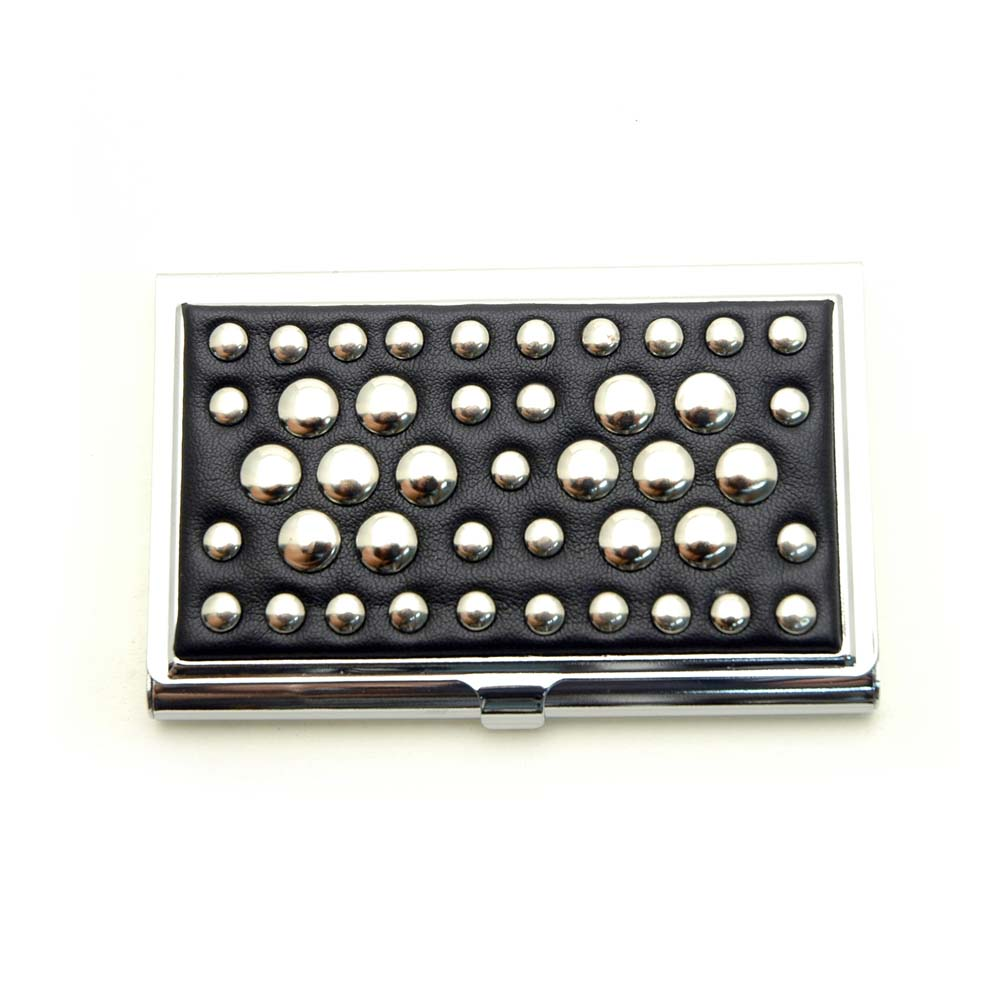 Studded Fluer De Lis Card Case