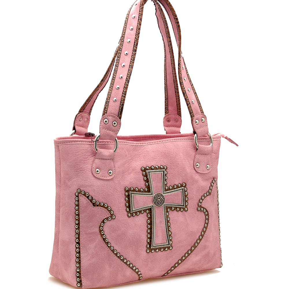 Western Style Cross Sign Tote Bag