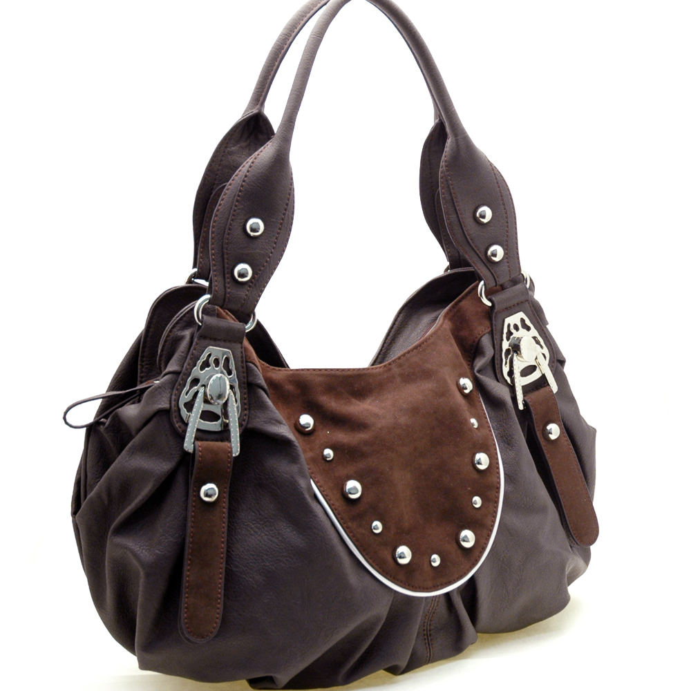 Dasein Mitwelt® Studded Apron Shoulder Bag