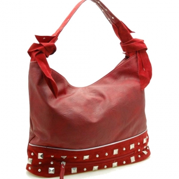 Designer inspired hobo bag with studs