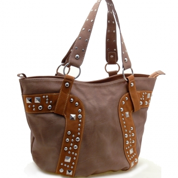 Fashion studs decorated tote bag