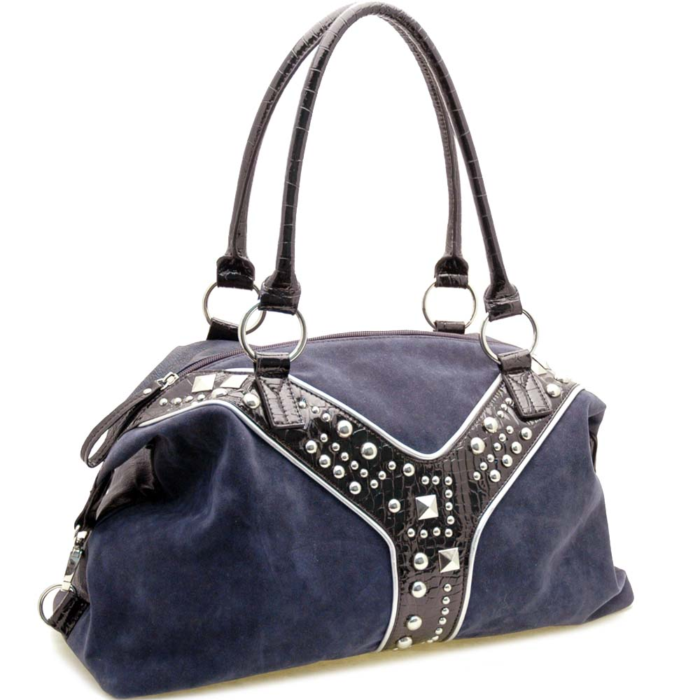 Dasein Eigenwelt® Studded Croco Shoulder Bag