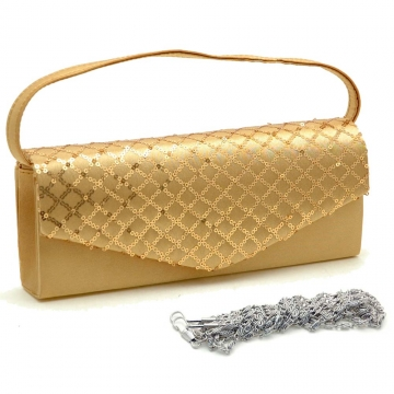 Sequins Mesh Evening Bag