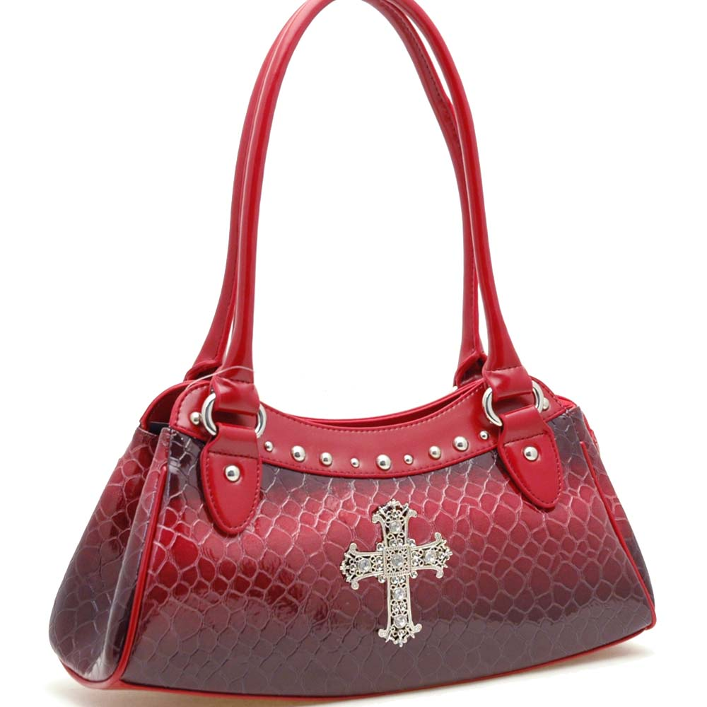 Dasein Esserpenti® Rhinestone Cross Long Shoulder Bag