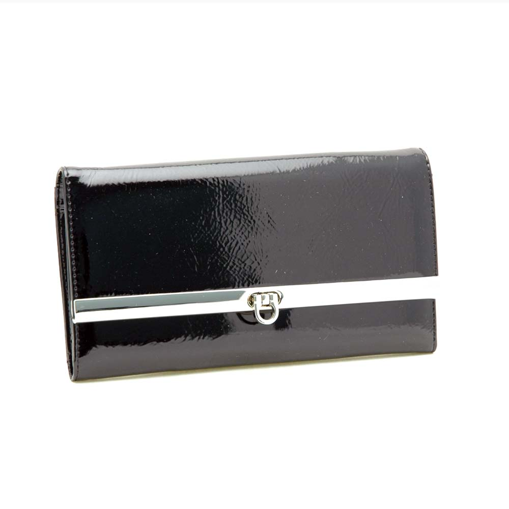 Dasein® Faux Leather Shiny Checkbook Wallet