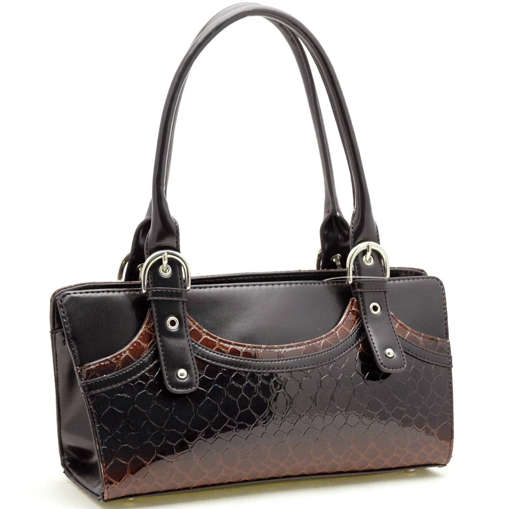 Dasein Esserpenti® Partial Snakeskin Shoulder Bag