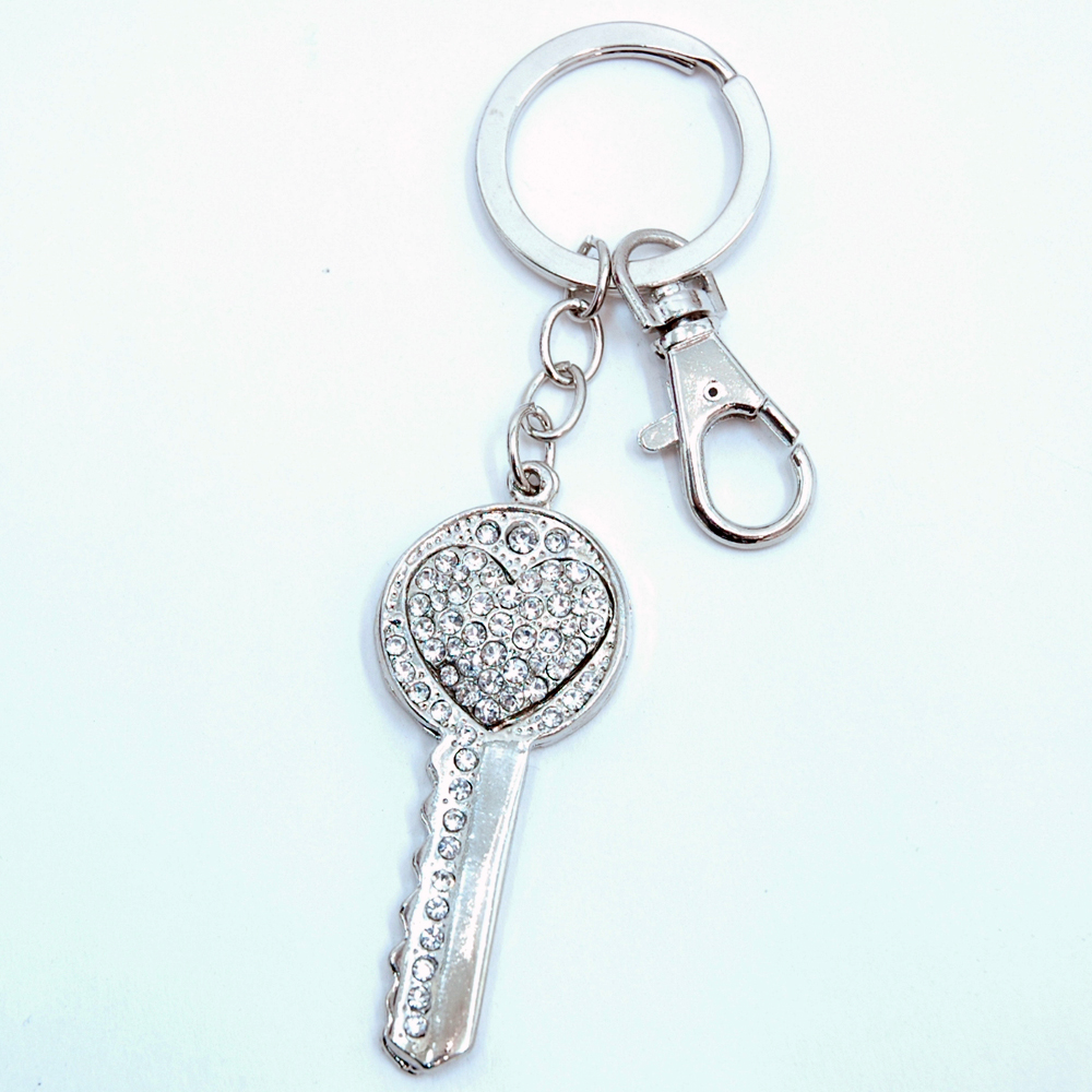 Rhinestone 2-keys Key Chain