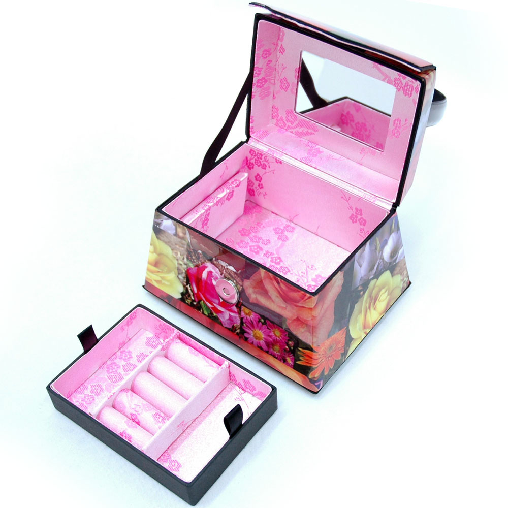 Flower Print Jewelry Case
