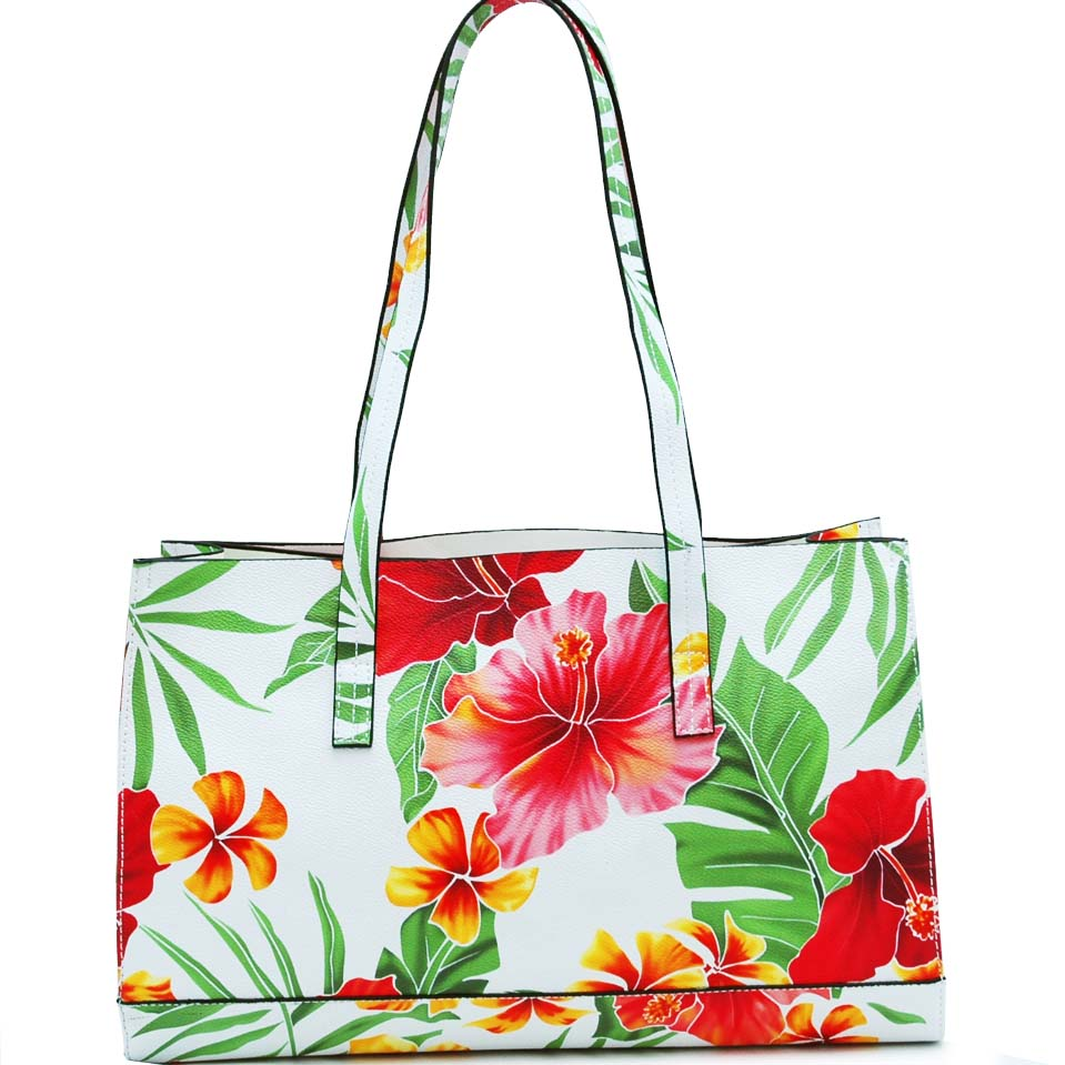 Floral Print Multi Function Tote Bag