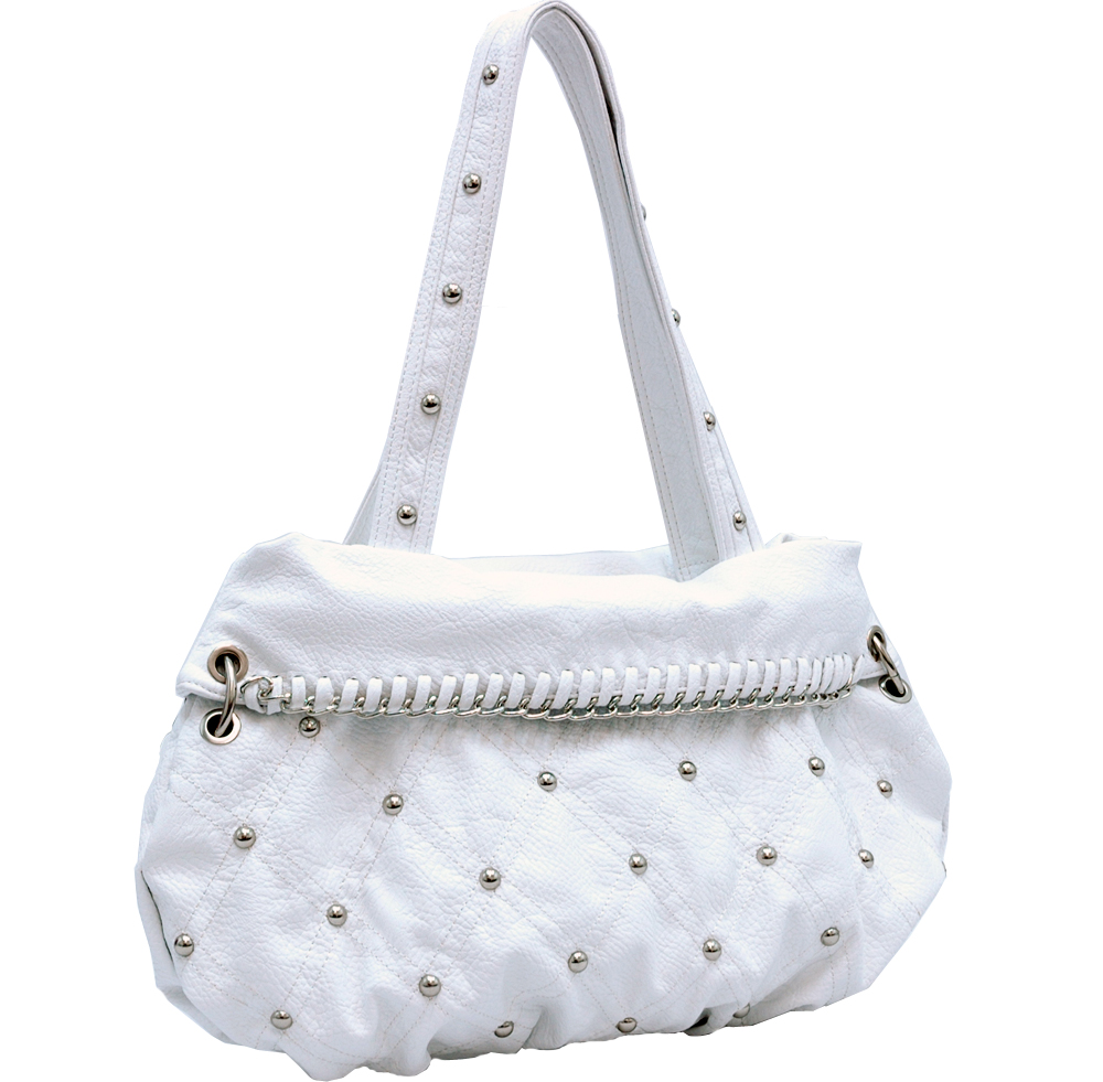 Studded designer inspired shoulder bag