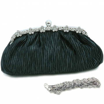 Rhinestone decorated eveing purse clutch