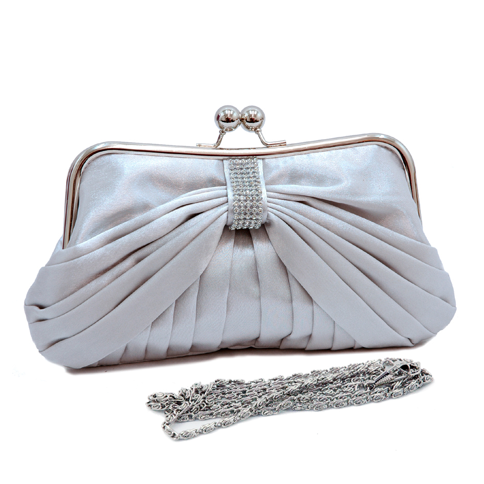 Satin Wrinkled Evening Bag