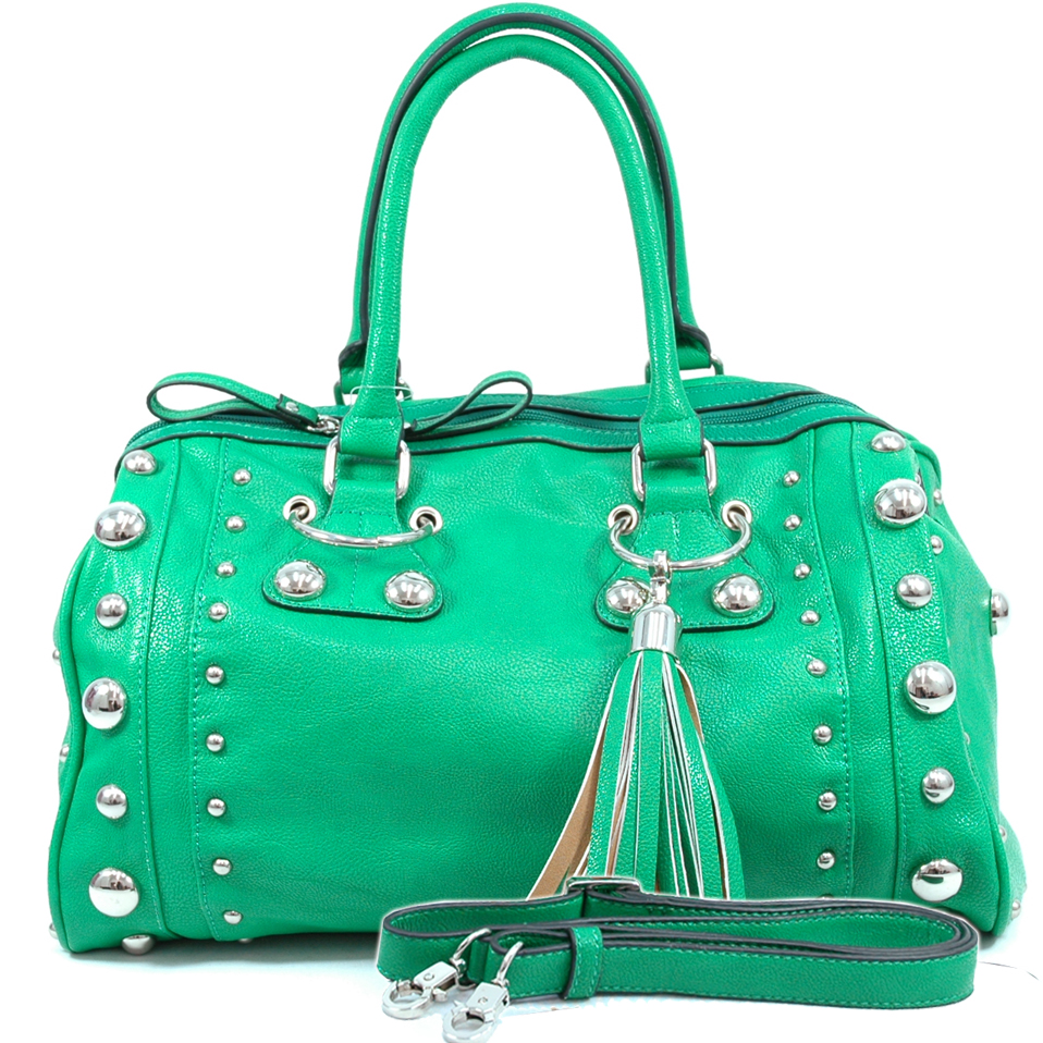Dasein designer inspired studded tote bag