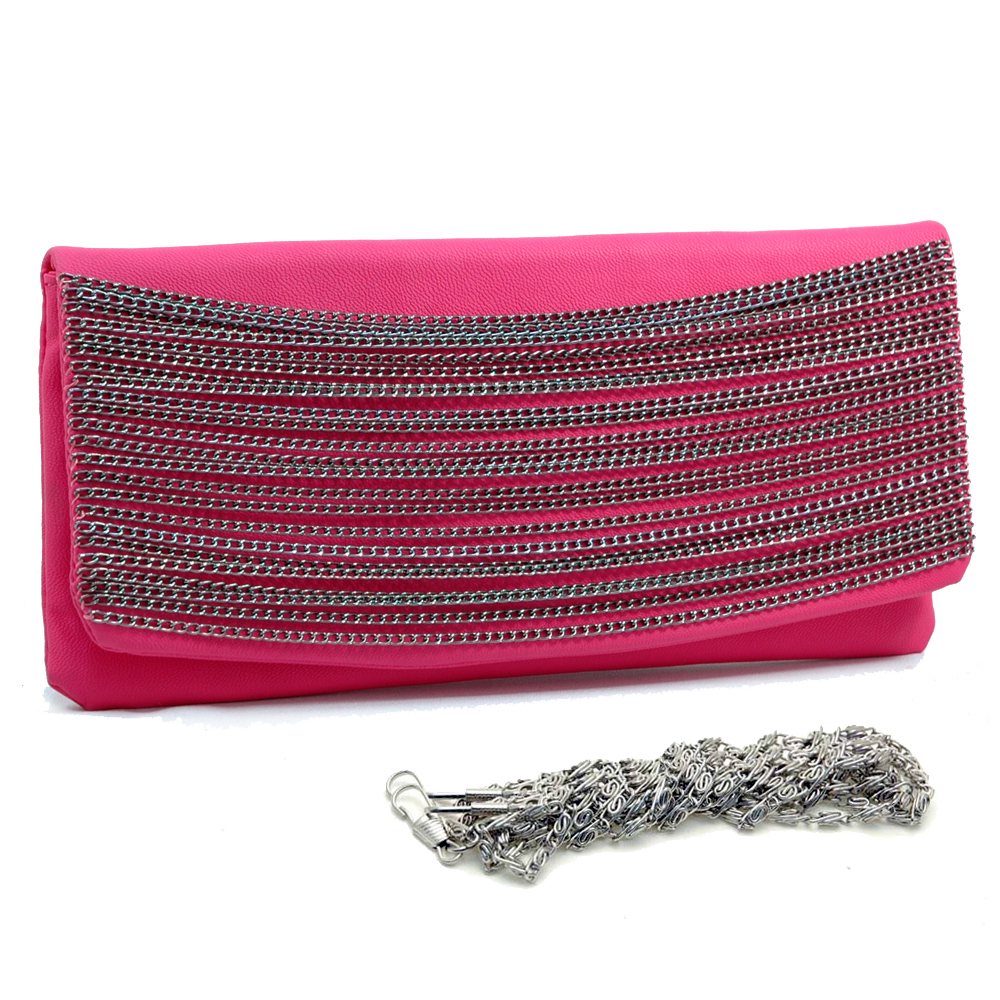 Chain Streaked Evening Bag