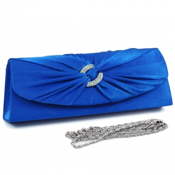Evening bag w/ rhinestone ring accented flap