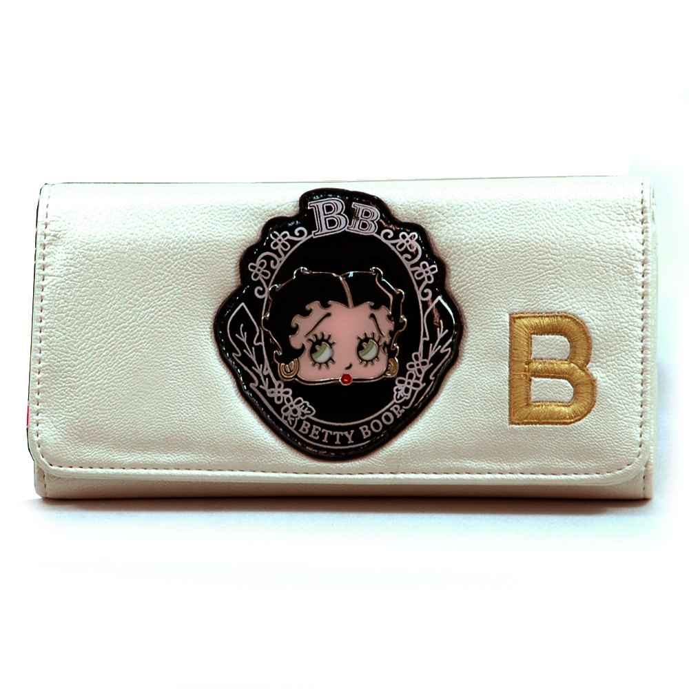 Betty Boop® Metal Head Checkbook Wallet-Champagne