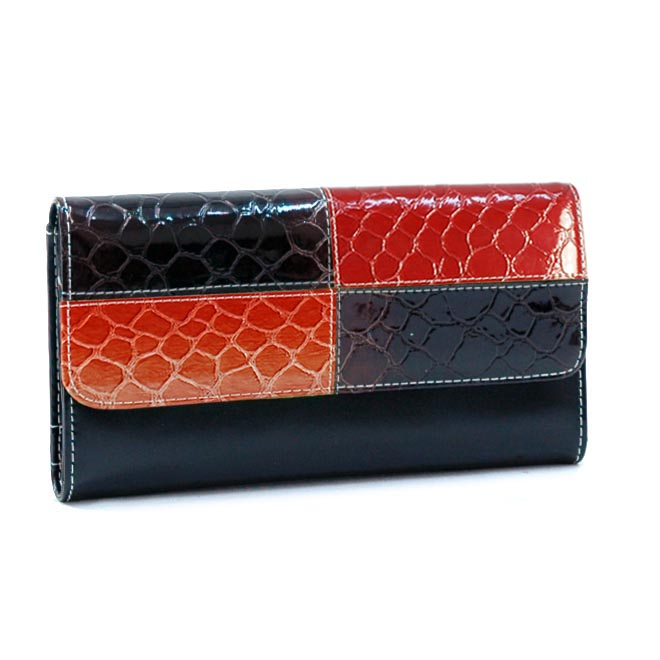 Dasein Esserpenti® Two Tone Short Flap Folded Wallet