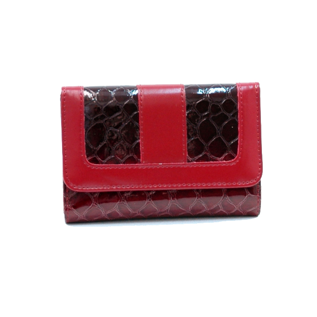 Dasein Esserpenti® Partial Snakeskin Folded Wallet