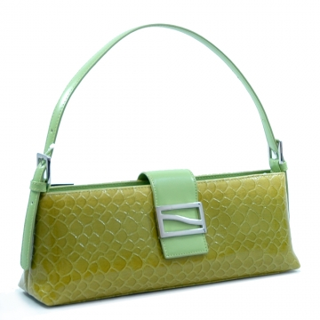 Dasein Desinger Inspired Patent Leatherette Shoulder Bag-Green