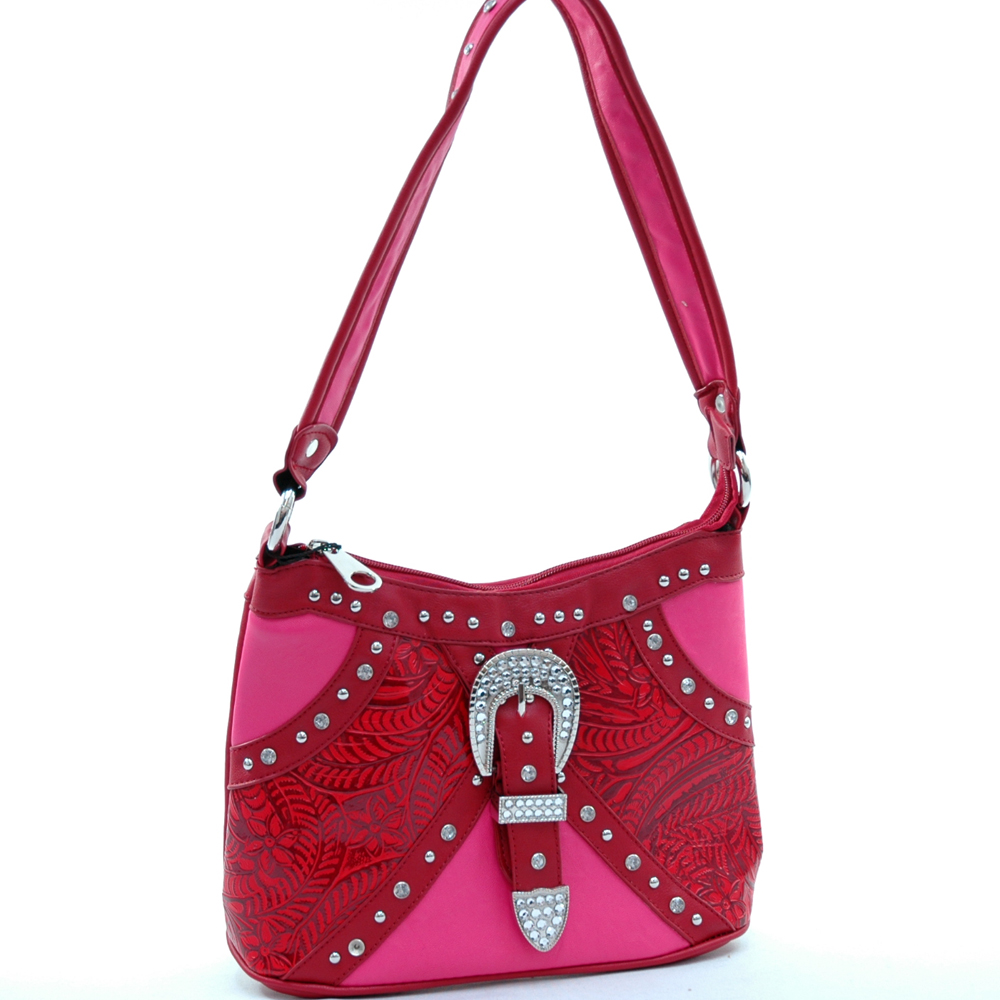 Montana West® Maiden Hair Fern Buckle Shoulder Bag