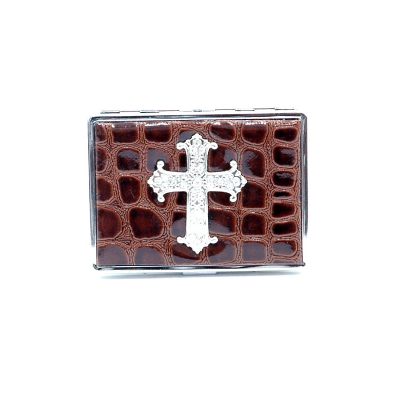 Croco embossed face, Cross sign card case