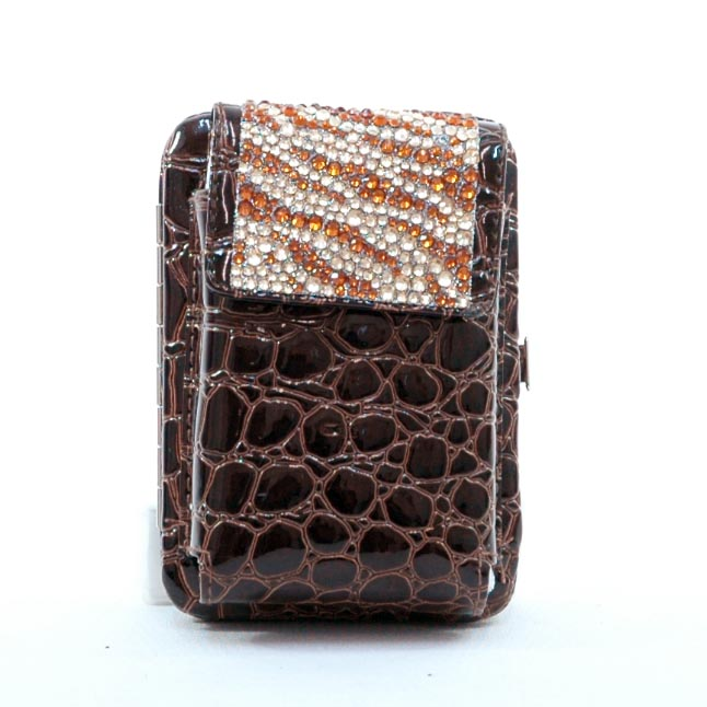 Zebra Rhinestone Cellphone holder with frame wallet