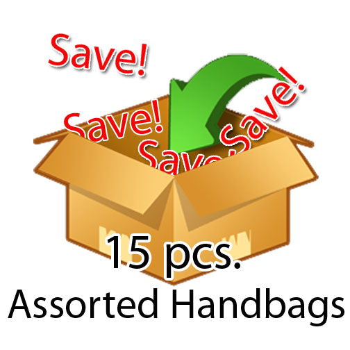 15 Pcs . Assorted Handbags , Value Pack