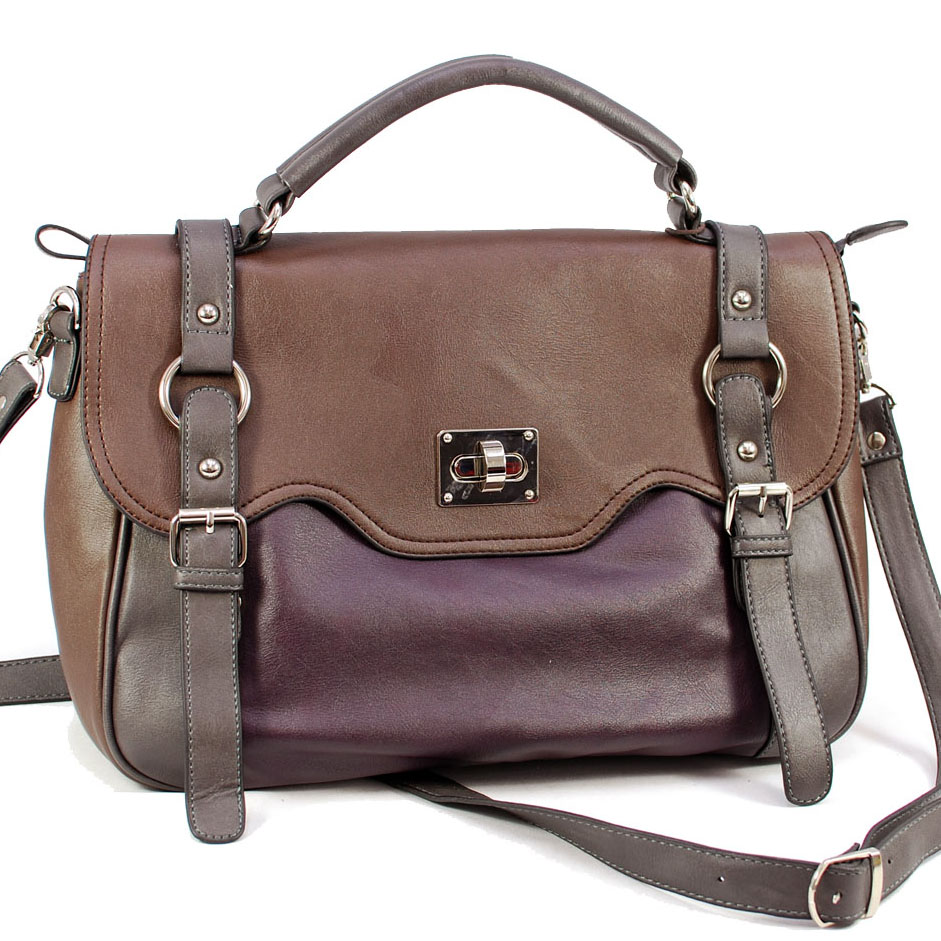 Multi colored designer inspired briefcase Purple