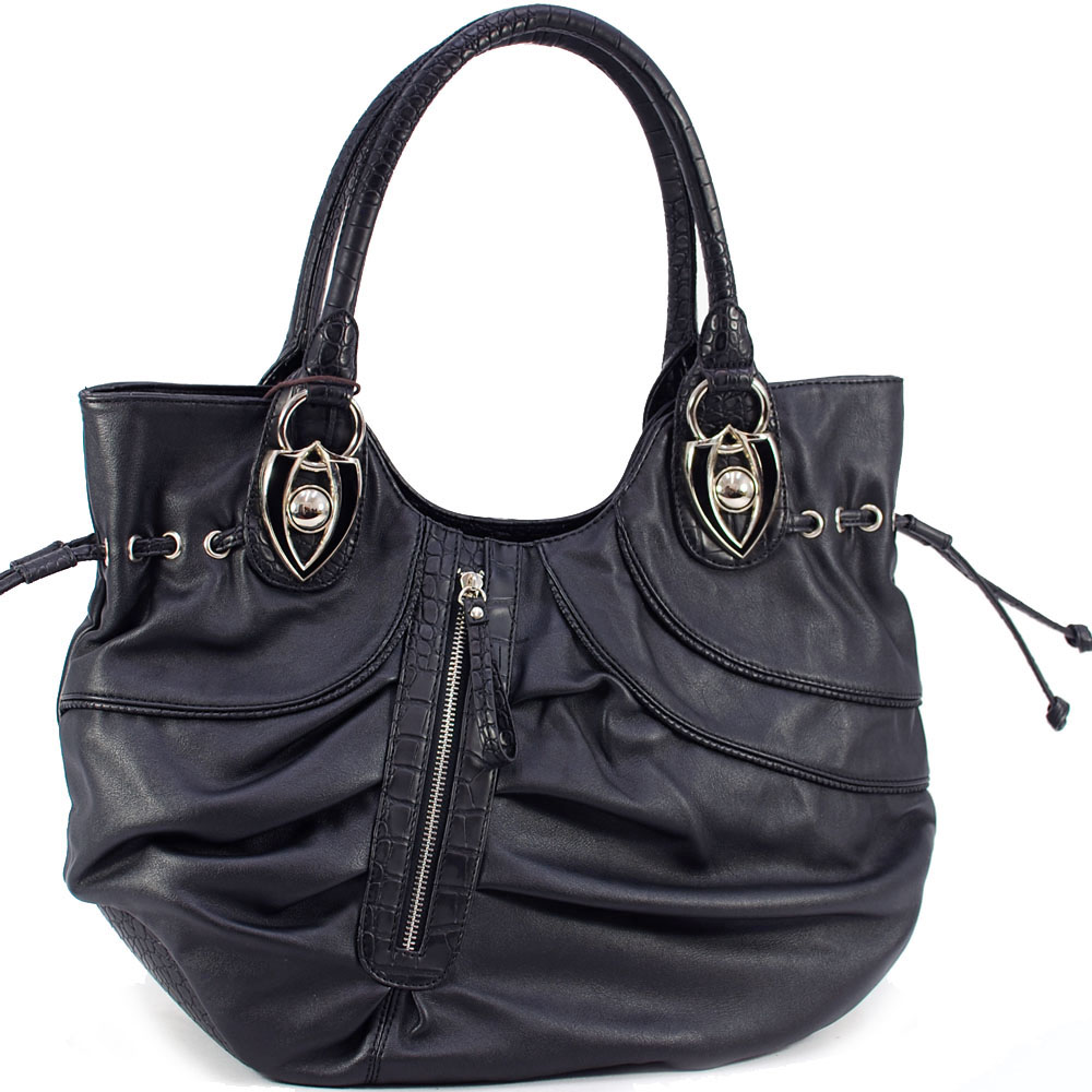 Pleated Dasein shoulder bag