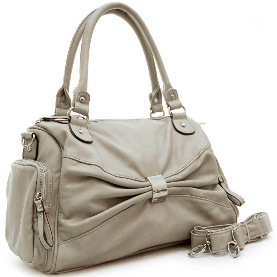 Dasein front decorative shoulder bag with side pockets