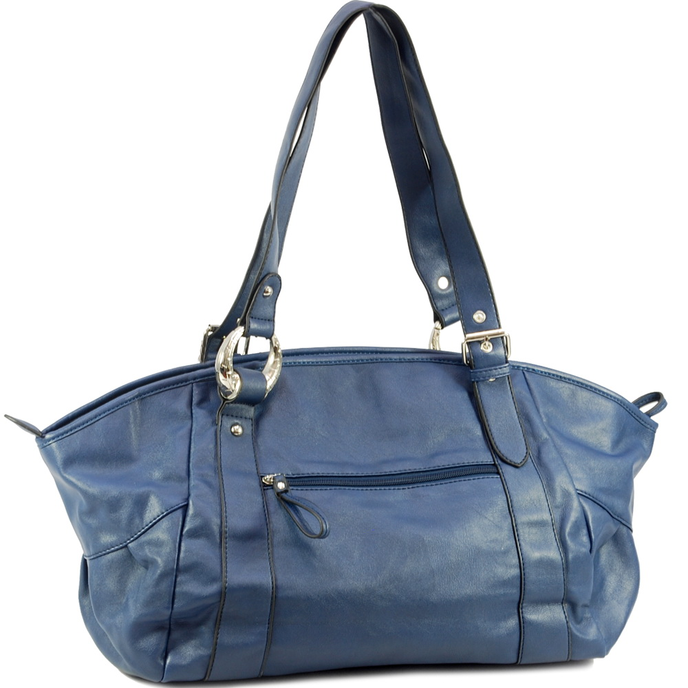 Dasein shoulder bag with front rotating petals