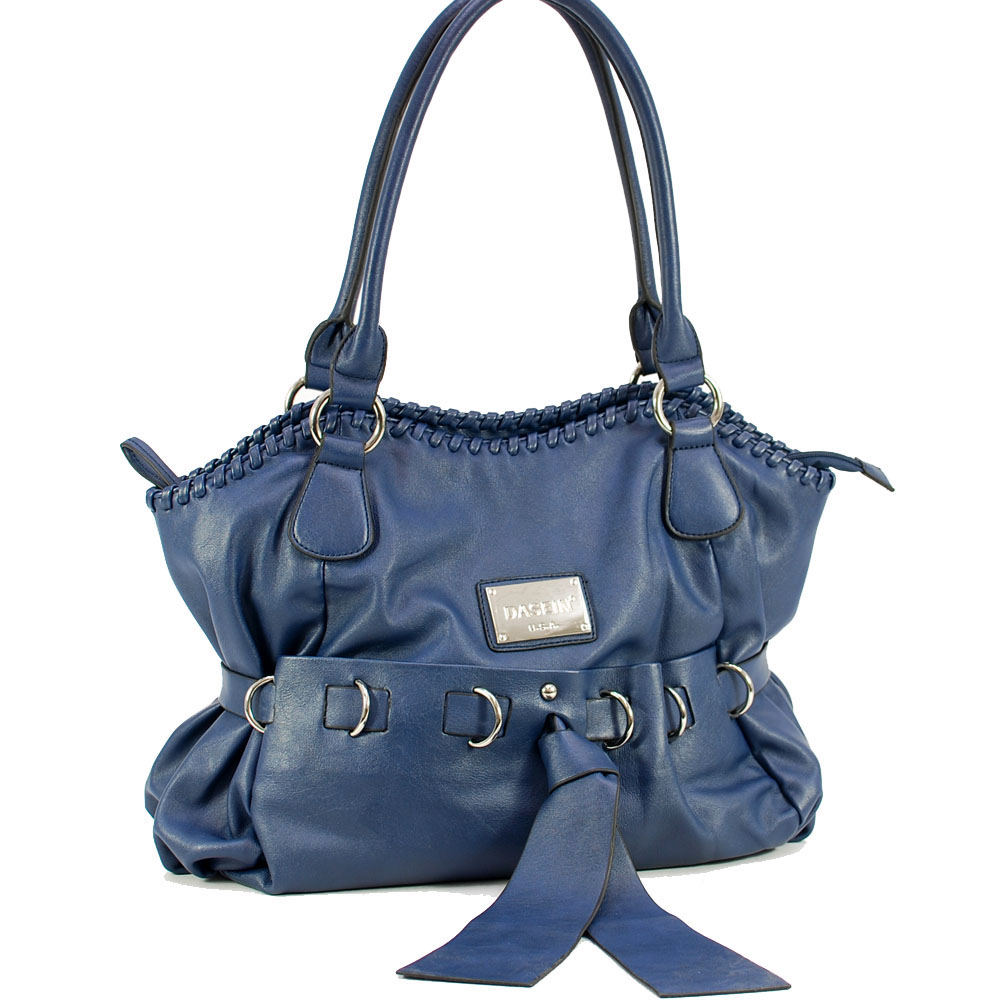 Dasein shoulder bag with front bow decoration