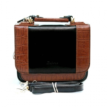 Briefcase leather like handbag organizer
