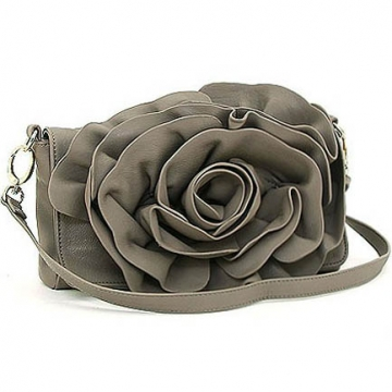 Emperia rosette raised flower messenger crossbody bag