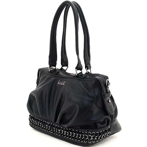 Katehill chain braided accented shoulder bag