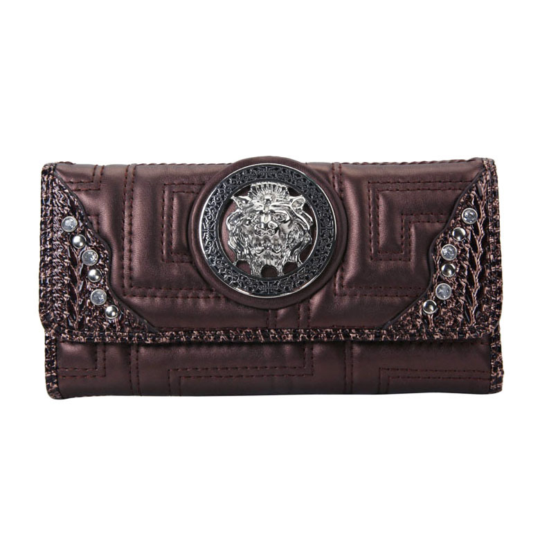 Meada® Quilted Lion Emblem Wallet