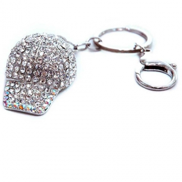 Rhinestone hat Key Chain