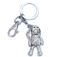 Rhinestone dog key chain