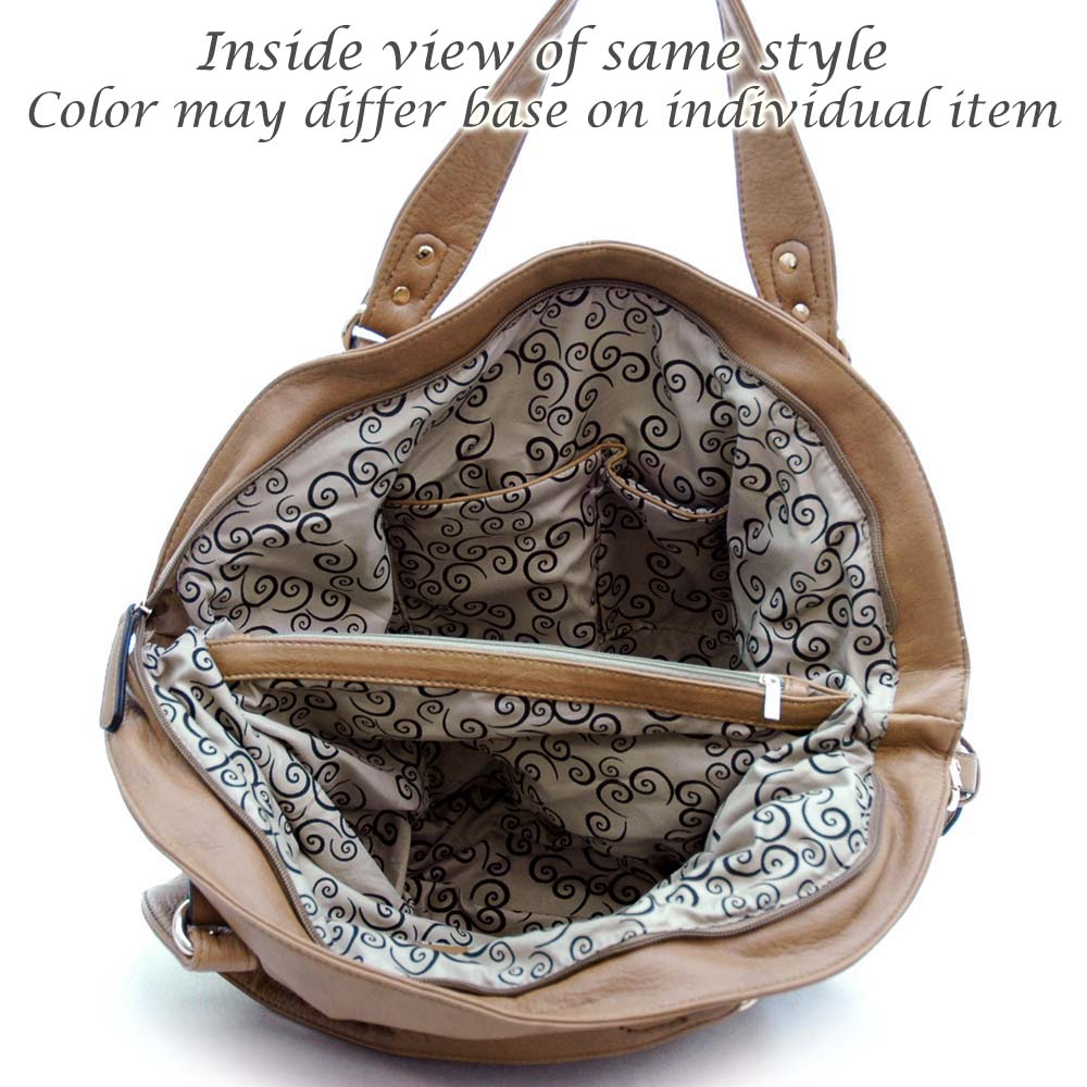 Emperia® Ring Tasseled Satchel with Zipper Accents