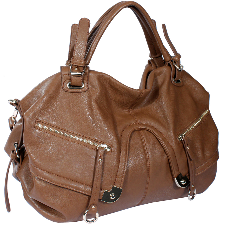 Emperia front pockets satchel Brown
