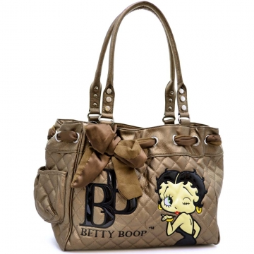 Betty Boop Scarf Accent Quilted Shoulder Bag