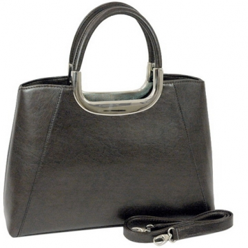 Vani Designer Inspired Fine Textured Leather Look Like Satchel-Black