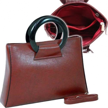 Designer Inspired Fine Textured Leather Look Like Satchel